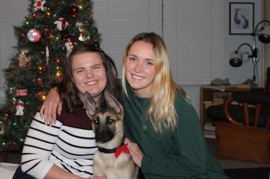 Sisters and Heidi on Christmas Eves