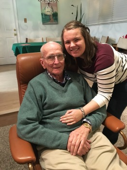 Grandpa and I.